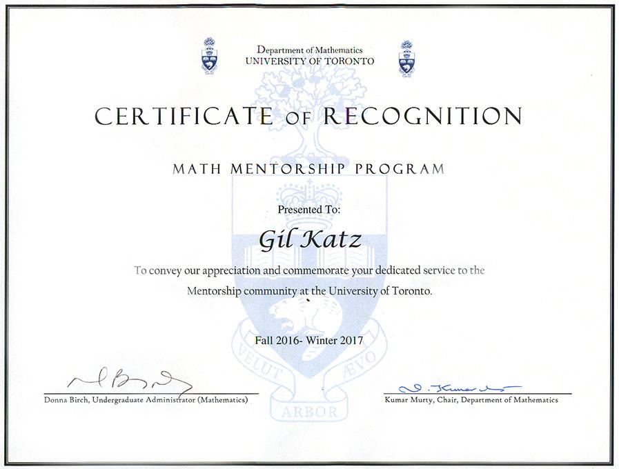 UniversityofTorontoMathMentorrshipProgram